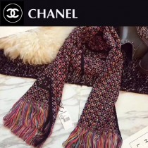 CHANEL特價圍巾-001 秋冬新款羊毛混紡質地溫暖洋氣雙面可用圍巾披肩