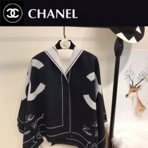 CHANEL特價圍巾-005-4 新款專櫃同步當紅款羊絨款雙面兩用圍巾披肩