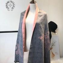 Chrome Hearts特價圍巾-001-3 新款羊絨兩面用圍巾披肩