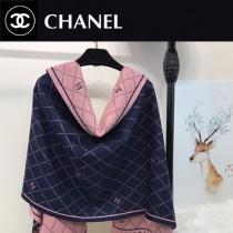 CHANEL特價圍巾-001-4 秋冬新款羊毛混紡質地溫暖洋氣雙面可用圍巾披肩