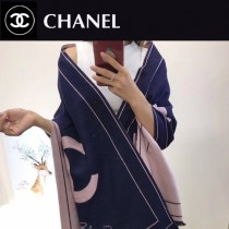 CHANEL特價圍巾-005-5 新款專櫃同步當紅款羊絨款雙面兩用圍巾披肩