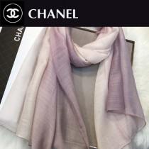 CHANEL圍巾-04-2 香奈兒時尚女士原單燙鑽LOGO漸變絲羊毛長款圍巾絲巾