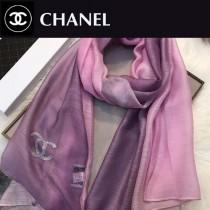 CHANEL圍巾-04 香奈兒時尚女士原單燙鑽LOGO漸變絲羊毛長款圍巾絲巾