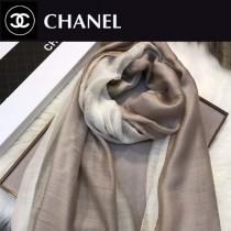 CHANEL圍巾-04-3 香奈兒時尚女士原單燙鑽LOGO漸變絲羊毛長款圍巾絲巾