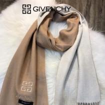 GIVENCHY圍巾-01-2 紀梵希男女款鄂爾多斯羊絨素色雙面刺繡長款圍巾