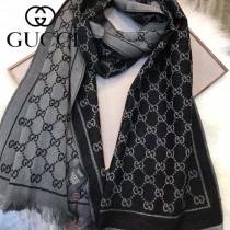 GUCCI圍巾-01 古馳經典款大LOGO提花進口澳洲羊毛長款圍巾