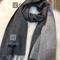 GIVENCHY圍巾-01 紀梵希男女款鄂爾多斯羊絨素色雙面刺繡長款圍巾