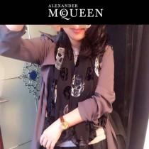 McQueen圍巾-01 麥昆潮流新款秋冬保暖羊絨長款圍巾