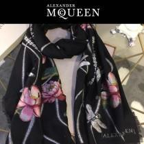 McQueen圍巾-02-2 麥昆潮流最新頂級羊絨剪花工藝長款圍巾