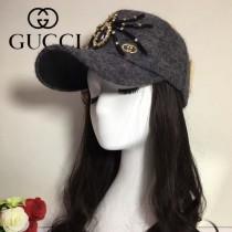 GUCCI帽子-7 古馳最新款長羊毛呢料手工製作水鑽大蜘蛛爆款棒球帽