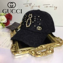 GUCCI帽子-7-2 古馳最新款長羊毛呢料手工製作水鑽大蜘蛛爆款棒球帽
