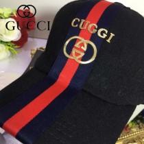 GUCCI帽子-1-2 古馳最新款羊毛呢料高端大氣百搭黑色爆款棒球帽
