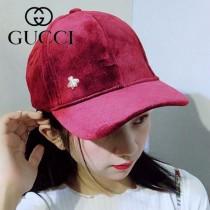 GUCCI帽子-8-2 秋冬最新款透氣性超好純手工製作金屬小蜜蜂高檔面料精緻棒球帽
