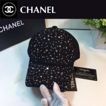 CHANEL帽子-1 香奈兒秋冬新款經典滿鑽呢子棒球帽