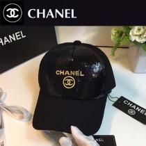 CHANEL帽子-2 秋冬新款亮片休閒天然棉舒適透氣呢子棒球帽
