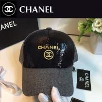 CHANEL帽子-2-2 秋冬新款亮片休閒天然棉舒適透氣呢子棒球帽