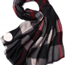 CHLOE圍巾-03-2 克洛伊秋冬專櫃新款原單輕縮絨平紋格紋羊羔絨長款圍巾