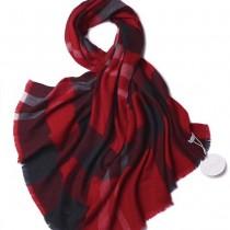 CHLOE圍巾-03 克洛伊秋冬專櫃新款原單輕縮絨平紋格紋羊羔絨長款圍巾