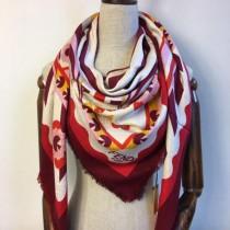 FENDI圍巾-03 芬迪潮流新款小怪獸圖案提花真絲羊絨方巾圍巾