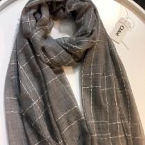 CHLOE圍巾-04 克洛伊殿堂級好貨橫豎線條設計純羊絨長款圍巾