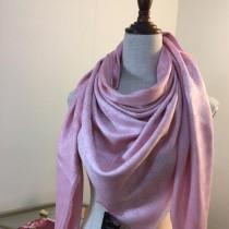 GUCCI圍巾-011-4 古馳人氣經典款雙G提花絲羊絨方巾圍巾