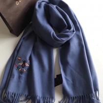 GUCCI圍巾-012-7 古馳新款原單蜜蜂刺繡克什米爾山羊絨長款圍巾披肩