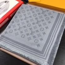 LV圍巾-013-2 路易威登新款幻影系列暗紋提花真絲羊毛方巾圍巾