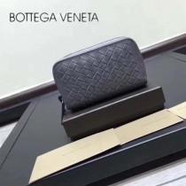 BV-120746-2 原廠特定胎牛皮純手工編織雙拉鏈零錢鑰匙包