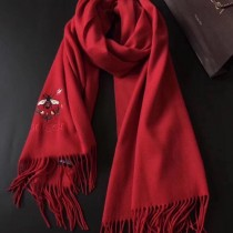 GUCCI圍巾-012-8 古馳新款原單蜜蜂刺繡克什米爾山羊絨長款圍巾披肩