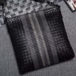 BV-Au0079-4 新款拼色進口胎牛皮郭濤同款刺繡男士斜挎包