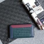 BV-V85318-4 經典編織胎牛皮平凡魅力拼色手包