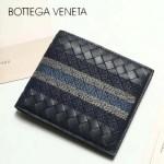 BV-V88307-6 最新款胎牛皮純手工編織刺繡圖案短款錢包