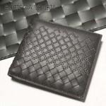BV-V88307 新款純手工編織刺繡圖案雙折短夾錢包