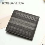 BV-V88307-5 最新款胎牛皮純手工編織刺繡圖案短款錢包