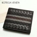 BV-V88307-4 最新款胎牛皮純手工編織刺繡圖案短款錢包