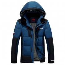 The North Face-02-2 北面專櫃新款短款連帽男士修身拼色羽絨服戶外保暖防寒外套