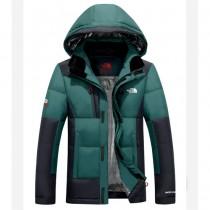The North Face-02 北面專櫃新款短款連帽男士修身拼色羽絨服戶外保暖防寒外套