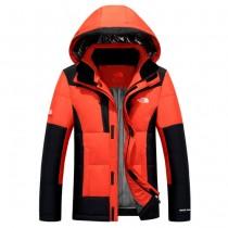 The North Face-02-3 北面專櫃新款短款連帽男士修身拼色羽絨服戶外保暖防寒外套
