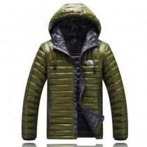 The North Face-01-4 北面專櫃新款短款連帽男士修身拼色羽絨服戶外保暖防寒外套