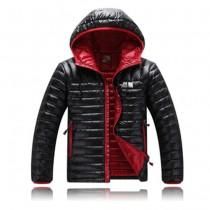 The North Face-01-3 北面專櫃新款短款連帽男士修身拼色羽絨服戶外保暖防寒外套