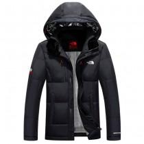 The North Face-02-4 北面專櫃新款短款連帽男士修身拼色羽絨服戶外保暖防寒外套