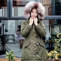 Moncler衣服-018 蒙口冬季保暖時尚女士狐狸毛領長款羽絨服外套