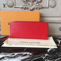 LV-60913 LV原單紅色CLEMENCE小巧拉鏈長款錢包