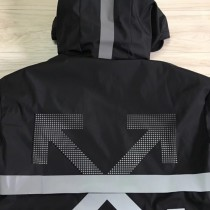Moncler衣服-013 專櫃新品沖孔箭頭3M反光防水防風連帽羽絨服外套