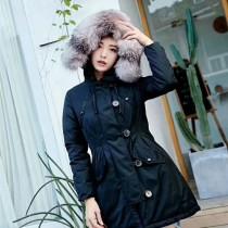 Moncler衣服-018-2 蒙口冬季保暖時尚女士狐狸毛領長款羽絨服外套