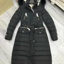 burberry衣服-04-2 巴寶莉專櫃限量版北美郊狼毛領長款羽絨外套