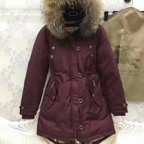 burberry衣服-03-3 巴寶莉專櫃限量版北美郊狼毛領長款羽絨服外套