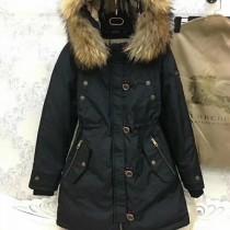 burberry衣服-03-4 巴寶莉專櫃限量版北美郊狼毛領長款羽絨服外套