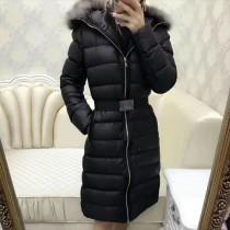 Moncler衣服-039 蒙口全智賢同款冬季保暖金島狐狸毛領長款羽絨服