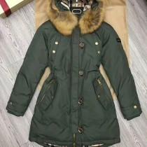 burberry衣服-03-2 巴寶莉專櫃限量版北美郊狼毛領長款羽絨服外套